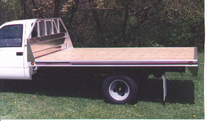 Scott Lite Flatbed On Chevrolet Commercial Truck Wood Deck Shown